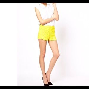 French Connection Yellow Sequin Short